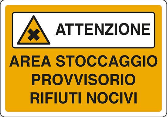 AREA STOCCAGGIO PROVVISORIO RIFIUTI NOCIVI