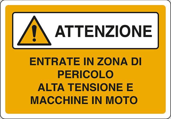 ENTRATE IN ZONA DI PERICOLO ALTA TENSIONE E MACCHINE IN MOTO