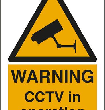 WARNING CCTV in operation