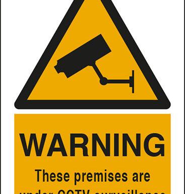 WARNING These premises are under CCTV surveillance