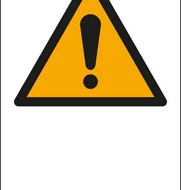 """(simbolo """"pericolo generico – general warning sign"""" con spazio scrivibile)"""