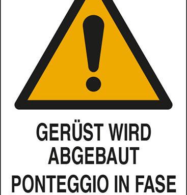 GERUEST WIRD ABGEBAUT PONTEGGIO IN FASE DI SMONTAGGIO