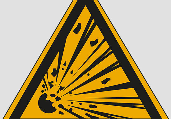 (warning: explosive material)