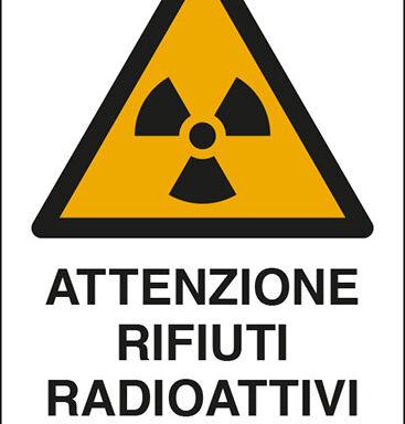 ATTENZIONE RIFIUTI RADIOATTIVI SOLIDI