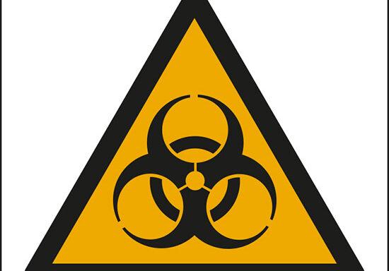 (pericolo rischio biologico – warning: biological hazard)