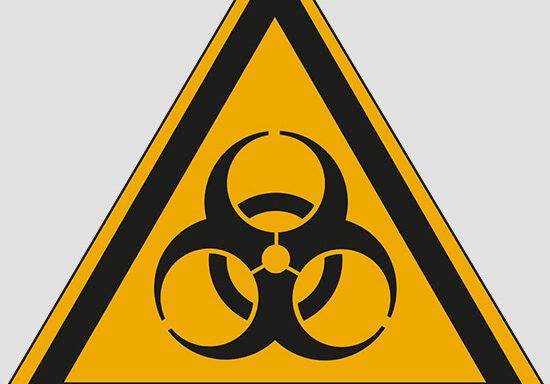 (warning: biological hazard)