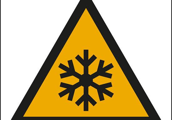 (pericolo bassa temperatura, pericolo di congelamento – warning: low temperature, freezing conditions)