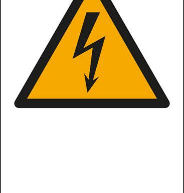 """(simbolo """"pericolo elettricità – warning: electricity"""" con spazio scrivibile)"""