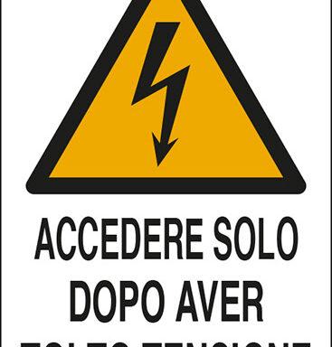 ACCEDERE SOLO DOPO AVER TOLTO TENSIONE