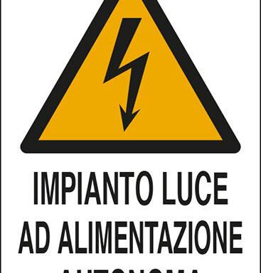 IMPIANTO LUCE AD ALIMENTAZIONE AUTONOMA