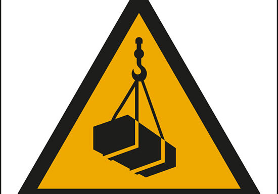 (pericolo carichi sospesi – warning: overhead load)