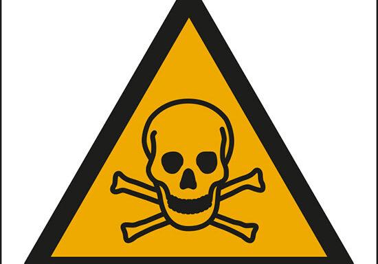 (pericolo sostanze tossiche – warning: toxic material)