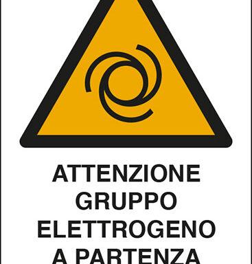 ATTENZIONE GRUPPO ELETTROGENO A PARTENZA AUTOMATICA
