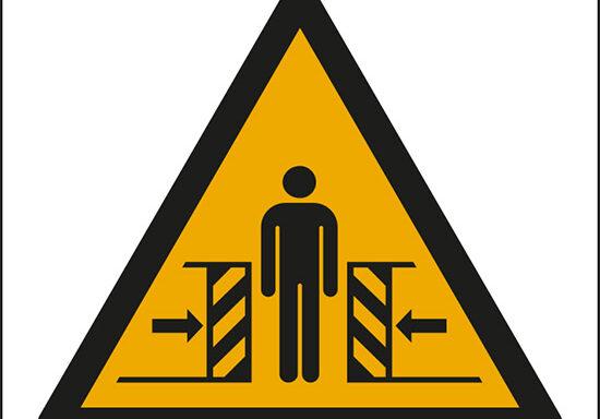 (pericolo di schiacciamento – warning: crushing)