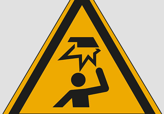 (warning: overhead obstacle)