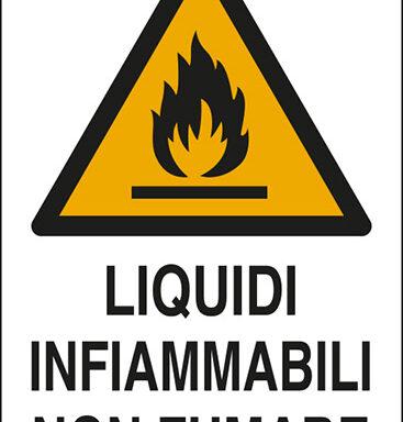 LIQUIDI INFIAMMABILI NON FUMARE