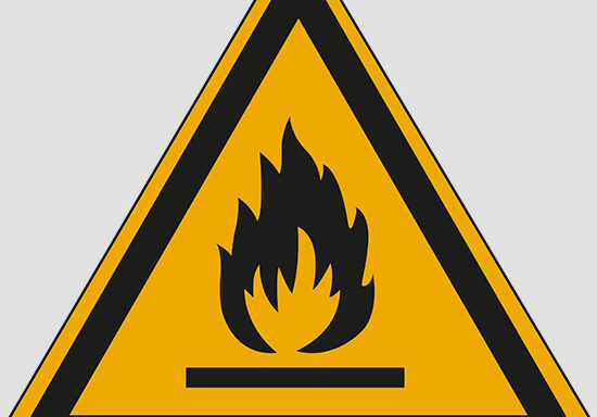 (warning: flammable material)