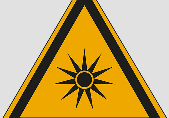 (warning: optical radiation)