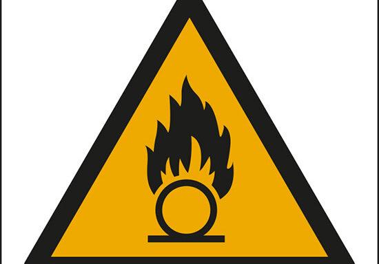 (pericolo di sostanze comburenti – warning: oxidizing substance)