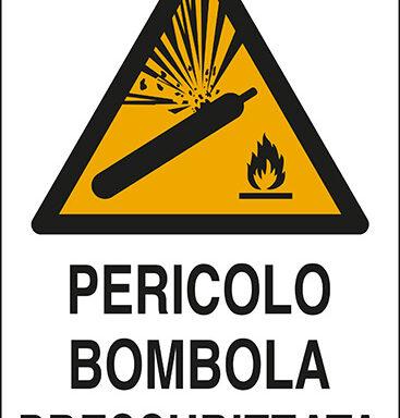 PERICOLO BOMBOLA PRESSURIZZATA