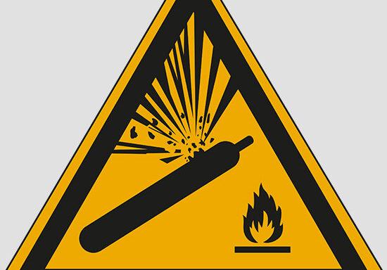 (warning: pressurized cylinder)