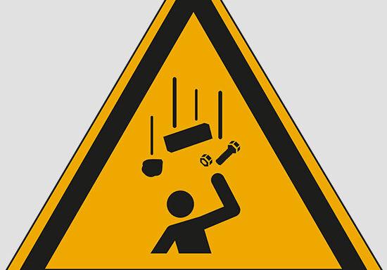 (warning: falling objects)