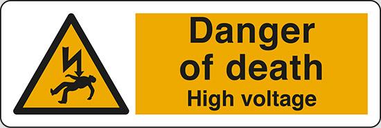 Danger of death High voltage